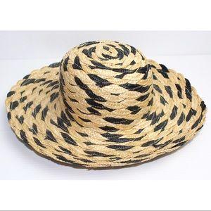 Vintage Woven Straw Pattern Round Hat